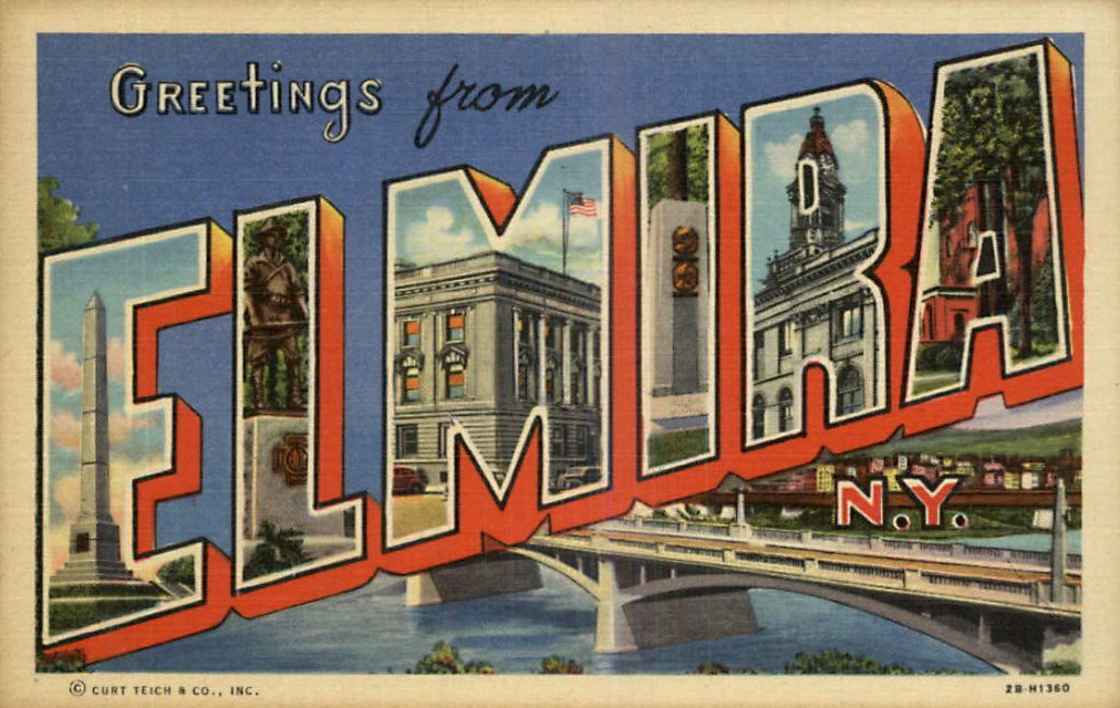 vintage Elmira post card
