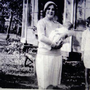 Marie Burdo and infant jane